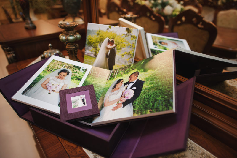 textile vintage wedding photo book album